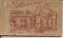 CPa LIMOGES 87  :  Carnet De 12 Cartes Complet  Années40?  Ensemble Vierge - Limoges