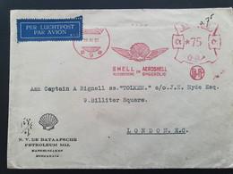 Shell Vliegbenzine Smeerolie Aeroshell. Ned. Indië. 19-10-1937 - Aerei