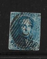 BELGIQUE 1851 YVERT N°7  OBLITERES - 1851-1857 Medallions (6/8)