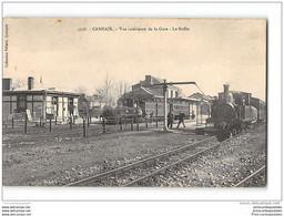 CPA 29 Carhaix La Gare Et Le Train Tramway Ligne De Carhaix Chateaulin Camaret - Carhaix-Plouguer