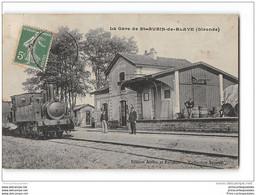 CPA 33 Saint Aubin De Blaye La Gare Et Le Train Tramway Ligne De St André Cubzac St Ciers La Lande - Other Municipalities