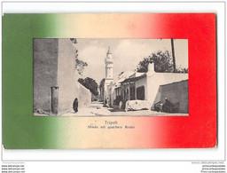 CPA Libye Tripoly Strada Nel Quartiere Arabo - Libia