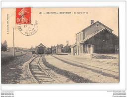 CPA 58 Brinon Sur Beuvron La Gare Et Le Train Tramway Lligne De St Reverien à Brinon - Brinon Sur Beuvron