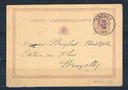 BRUGES 1873   Carte Correspondance - 1869-1888 Lying Lion