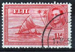 Fiji 1939 George VI 1½d Single Definitive Stamp. - Fiji (...-1970)