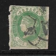 ESPAGNE 1862   YVERT N°58  OBLITERE - Usados