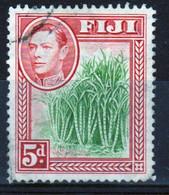 Fiji 1938 George VI 5d Yellow Green And Scarlet Definitive Stamp. - Fiji (...-1970)