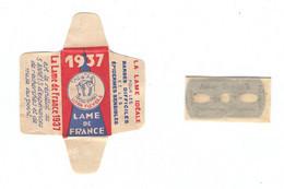 Lame De Rasoir Française 1937 - French Safety Razor Blade Wrapper - Razor Blades