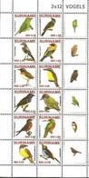 MDB-BK8-616 MINT ¤ SURINAME 2010 12w In Serie ¤ - BIRDS OF SURINAME - OISEAUX - PAJAROS - VOGELS - VÖGEL - - Parrots