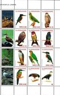 MDB-BK8-608 MINT ¤ SURINAME 2004 12w In Serie ¤ - BIRDS OF SURINAME - OISEAUX - PAJAROS - VOGELS - VÖGEL - - Parrots