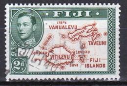 Fiji 1938 George VI  2d Definitive Stamp Die 1 In Used Condition. - Fiji (...-1970)