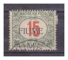 "Italia - FIUME - SEGNATASSE 1915  Francobolli Ungheresi Soprastampati ""Fiume""- Cent. 15 Usato - Portomarken"