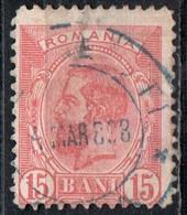 Romania, 1893/98 - 15b King Carol - Nr.124 Usato° - Gebraucht