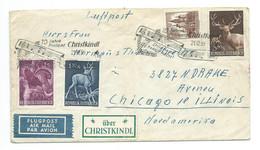 1959 Christkindl Cover/brief To Chicago USA (airmail) - 1945-60 Cartas