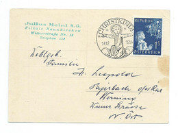 1954 Christkindl Postkarte - 1945-60 Cartas