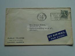AV649.13 CANADA Cover  Cancel Calgary Alberta  1960 - Briefe U. Dokumente