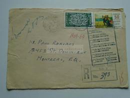 AV649.17  CANADA   Returned  Cover  Cancel Windsor Ontario 1969 -  Labeled Unknown Inconnu - Briefe U. Dokumente