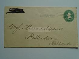 AV649.19  USA Cover  Cancel Clacksville Tenn.  1900  Nov.23  7.30 PM  - Sent To Rotterdam - 1 Cent Stationery - Briefe U. Dokumente
