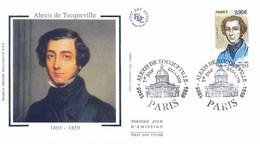 Enveloppe 1er Jour Alexis De Tocqueville 2005, (YT 3780) - 2000-2009