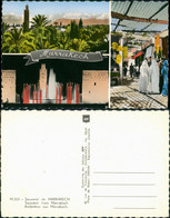 Marrakesch Souvenir From Marrakech Multi-View-Postcard/Mehrbild-AK  ) 1955 - Marrakesh