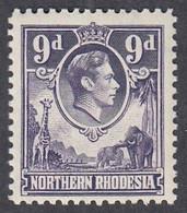 Northern Rhodesia, Scott #39, Mint Never Hinged, George VI, Issued 1938 - Nordrhodesien (...-1963)