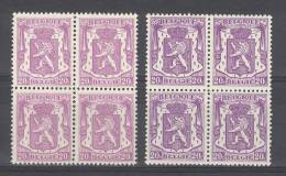 BELGIE - OBP Nr 422 + 422a (blok Van 4) - Klein Staatswapen - MNH** - 1935-1949 Petit Sceau De L'Etat