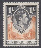 Northern Rhodesia, Scott #40, Mint Hinged, George VI, Issued 1938 - Nordrhodesien (...-1963)