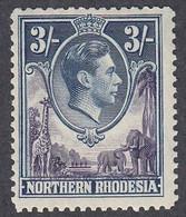 Northern Rhodesia, Scott #42, Mint Hinged, George VI, Issued 1938 - Nordrhodesien (...-1963)