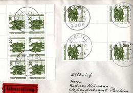 ! 1991, 30 Pfg. MeF, Eilbrief Aus Preetz, Marken Goethe Schiller Denkmal Weimar, - Cartas