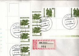 ! 1990, 30 Pfg. MeF, Einschreiben Aus Klötze, Marken Goethe Schiller Denkmal Weimar, - Cartas