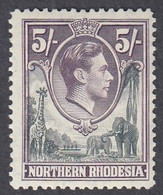 Northern Rhodesia, Scott #43, Mint Hinged, George VI, Issued 1938 - Nordrhodesien (...-1963)