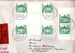! 1991, 50 Pfg. MeF, Eilbrief Aus Preetz, Marken Brandenburger Tor - Cartas