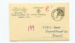1957 Kaart 1.20 Fr - KALKEN Naar Brussel - Cartes Postales [1951-..]