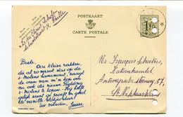 1954 Publibel 1237 Kaart 1.20 Fr - Christelijke Scholen Pulle Naar St Niklaas Firma Schoeters Katoenhandel - Cartes Postales [1951-..]