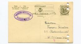 1957 Kaart 1.20 Fr - Meisjesschool Drongen Center  Naar St Niklaas Firma Schoeters Katoenhandel - Cartes Postales [1951-..]