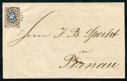 62215 Russia ESTONIA Revel (Tallinn) NUMERAL DOT *37* Cancel 1861 Cover To Pernov (Pärnu) Pmk - Cartas