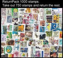 ReturnPack EUROPE WEST 1000 STAMPS Off Paper Kiloware StampBag Take Out 750 Stamps And Return The Rest. All For +€10 - Lots & Kiloware (mixtures) - Min. 1000 Stamps