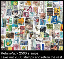ReturnPack EUROPE WEST 2500 STAMPS Off Paper Kiloware StampBag Take Out 2000 Stamps And Return The Rest. All For +€15 - Lots & Kiloware (mixtures) - Min. 1000 Stamps