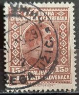 KING ALEXANDER-15 D-POSTMARK POŽEGA UŽIČ.-SHS-SERBIA- YUGOSLAVIA-1926 - Used Stamps