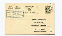 1955 Kaart 1.20 Fr Meisjesschool St ANNA Moleken St Niklaas Naar Firma Schoeters Katoenhandel - Cartes Postales [1951-..]