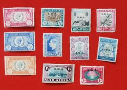 11 Timbres Neufs** - AFRIQUE Du SUD - Dont 7 Surchargés S.W.A. - Südwestafrika (1923-1990)