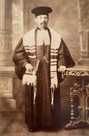 Photo Cdv Homme à Identifier Juif Rabbin Judaisme Judaica ? Photographe Ducas à Neuf Breisach Neuf Brisach Haut Rhin - Antiche (ante 1900)