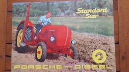 TRACTEUR PORSCHE DIESEL STANDARD STAR  DOCUMENTATION  DEPLIANT PARFAIT ETAT FORMAT FERME 30 X 21 CM - Agricoltura