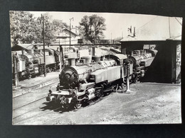 Photo Originale De Marc DAHLSTRÖM : Locomotive 141TB 422 Au Dépôt De Nogent Sur Marne En 1965 - Treni