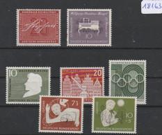 BRD    Posten/Lot    Postfrisch **   MiNr. 295-301 - Sin Clasificación