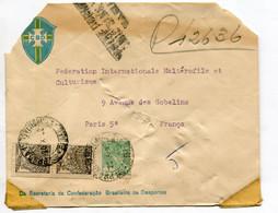 Brasile (1952) - Busta Per La Francia - Cartas