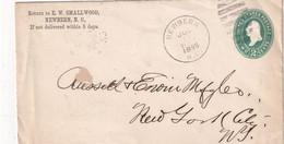 USA 1895   ENTIER POSTAL/GANZSACHE/POSTAL STATIONARY LETTRE DE NEWBERN - ...-1900