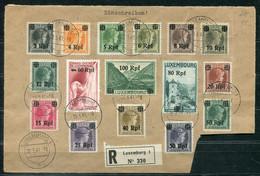 F0941 - DEUTSCHES REICH LUXEMBURG - Mi. 17-32 Auf Großem Briefstück - Occupation 1938-45
