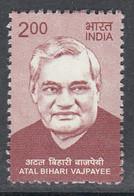 INDIA 2018  Definitive, ATAL BEHARI VAJPAYEE Definitives  Ex Prime Mininister Of INDIA, 1v, MNH(**) - Nuevos