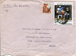 India (1982) - Aerogramma Per La Francia - Lettres & Documents